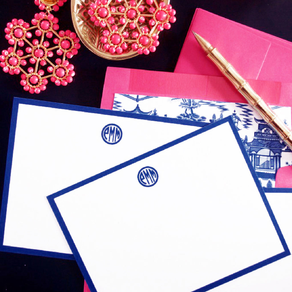 Chinoiserie Chic, Blue and White Stationery Set