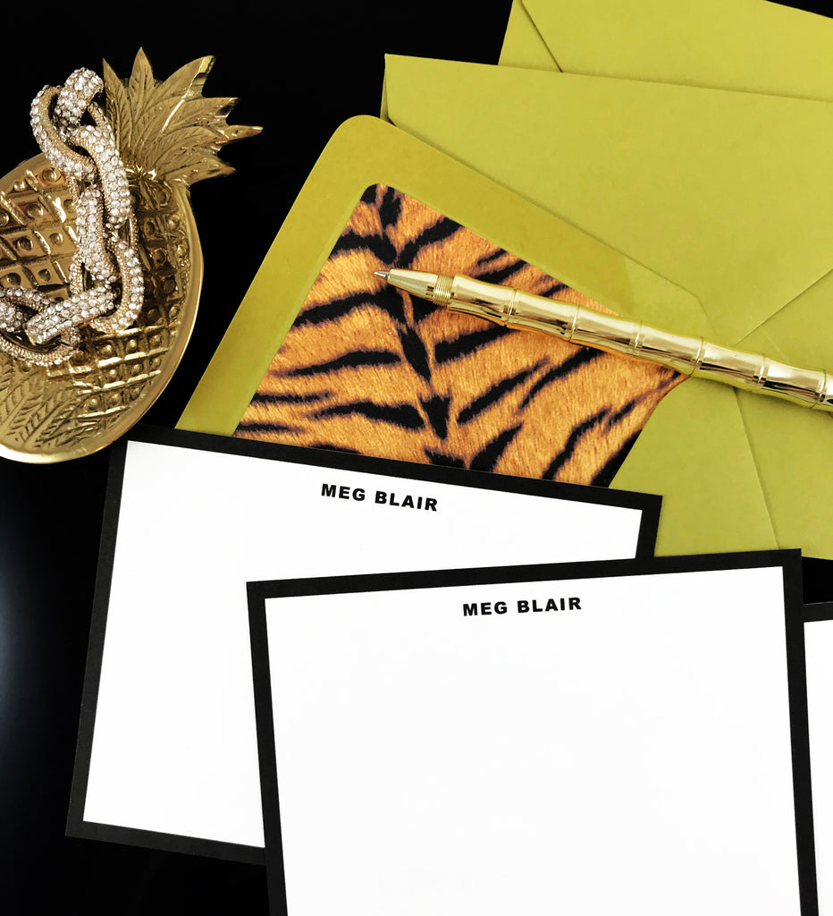 Tiger Print, Animal Print Stationery Set