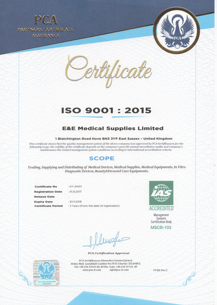 E&E Medical Supplies Ltd. ISO 9001 2015