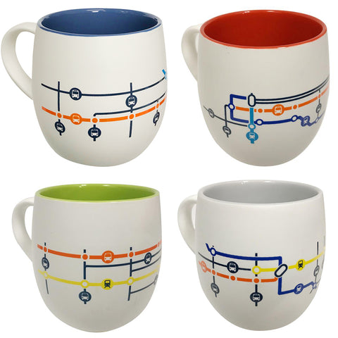Station Map Mug Set