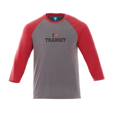 """I love Transit"" Jersey, Men's Red/Grey"