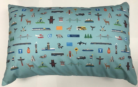Vancouver Icon Throw Pillow