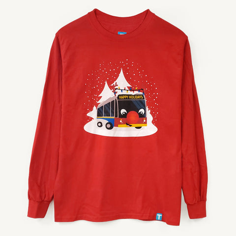 Reindeer Bus Long Sleeve T-Shirt - Unisex