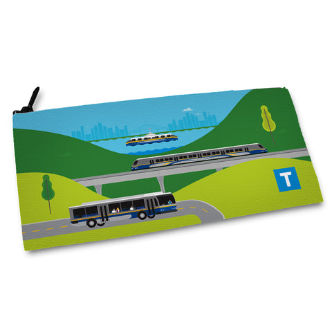 Transit Illustrations Pencil Case