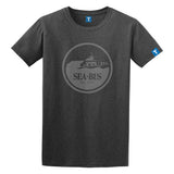 Men's Retro SeaBus T-shirt, Dark Grey with Cream Logo