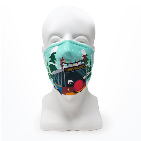 Reindeer Bus Mask, Adult