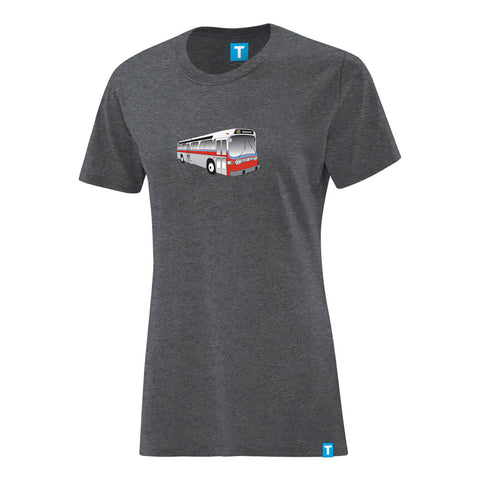 """New Look"" Bus T-Shirt, Ladies- Charcoal"