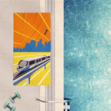 SkyTrain Beach Towel