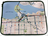 Bus System Map Laptop Sleeve