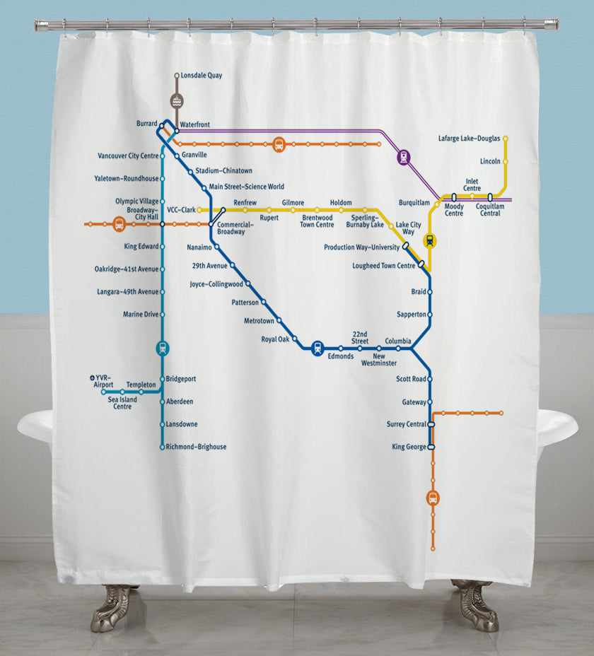 TransLink System Map Shower Curtain