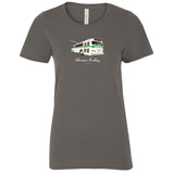 Vintage Electric Trolley Bus T-Shirt, Ladies-Coal Grey