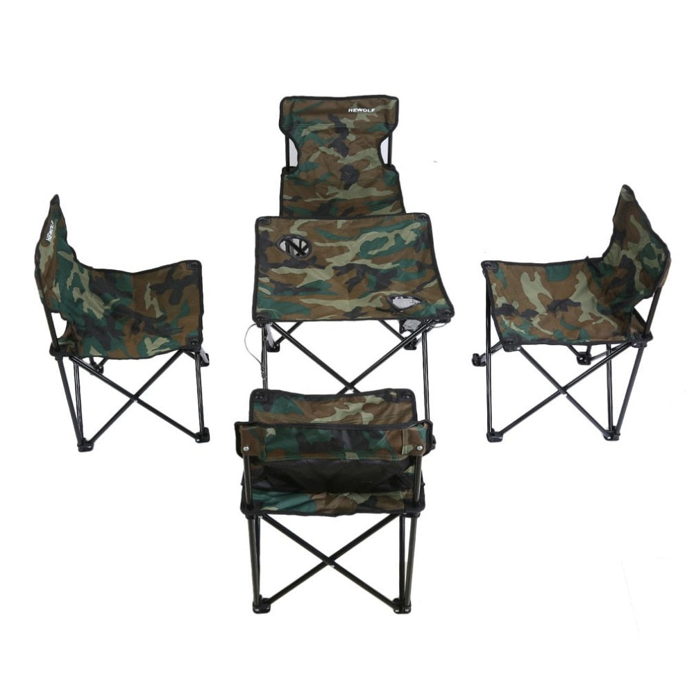 Camouflage Folding Table and Chair Combination Set - Venture Life