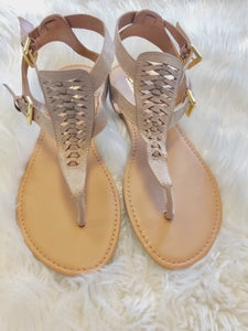 Taupe Suede Sandals