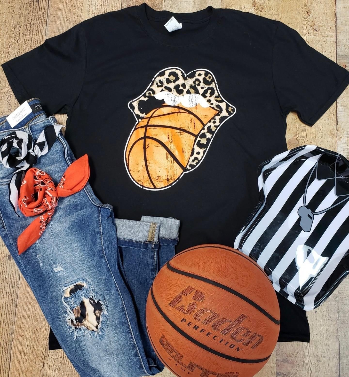 Basketball tongue T-shirt
