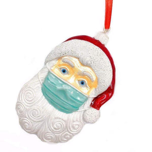 Masked Santa ornament