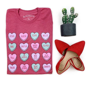 Texas hearts T-shirt