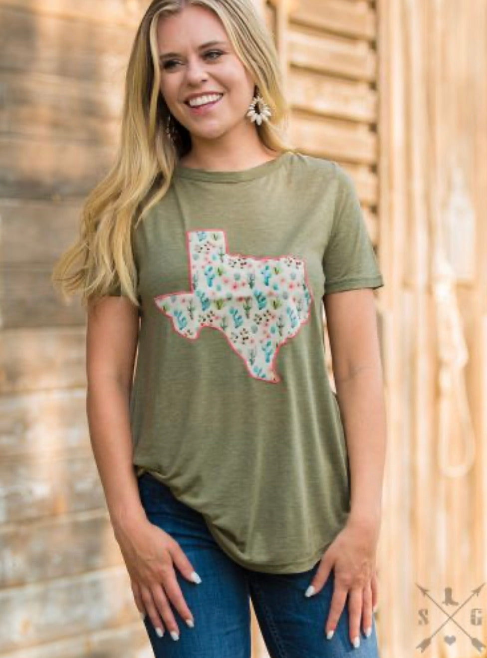 Olive cactus Texas T-shirt