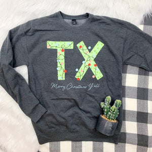 Tx Christmas Lights Sweater
