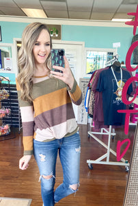 Thanksgiving striped top