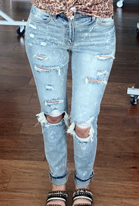 Candice high rise distressed jeans