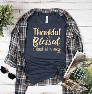 Thankful and blessed T-shirt