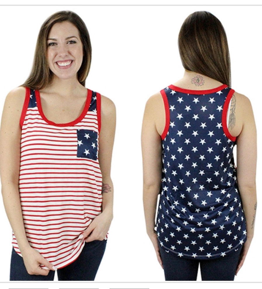 All American striped tank top