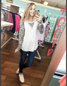 Leopard striped top