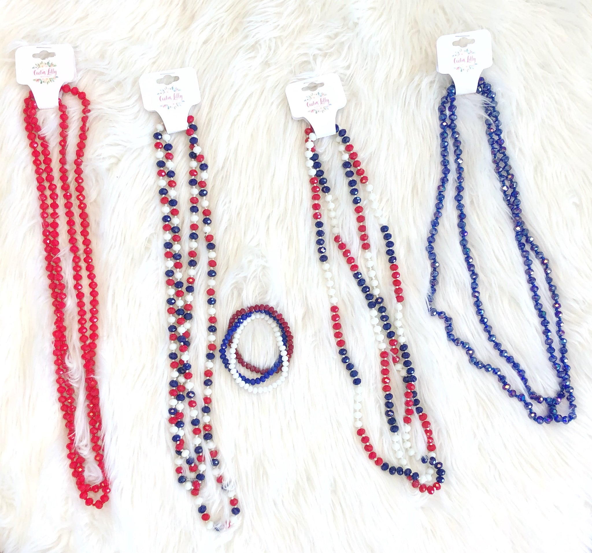 Red white & blue necklaces