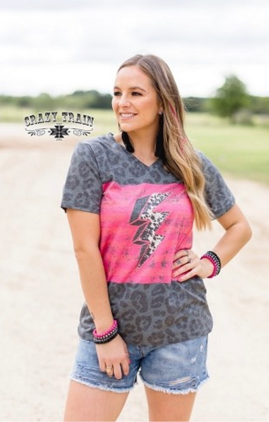 Thunder down under leopard top