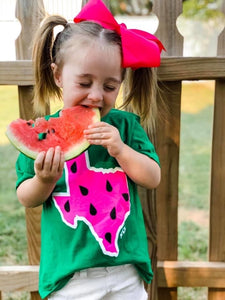 Youth Texas watermelon tee