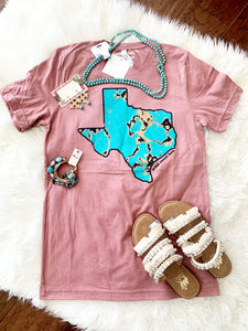 Turquoise Texas T-shirt