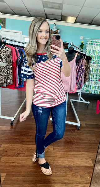 All American striped top