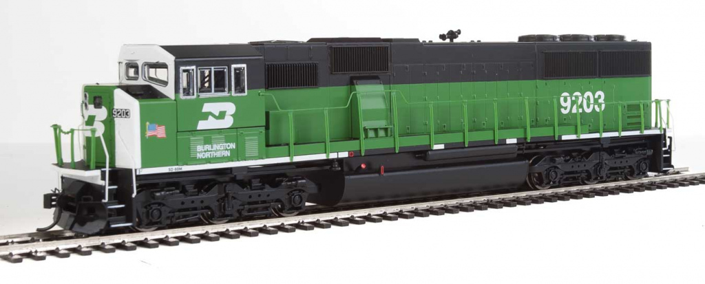 Walther's Mainline SD60M 3-Window Cab Burlington Northern  #9203 & #9238 Arrive!