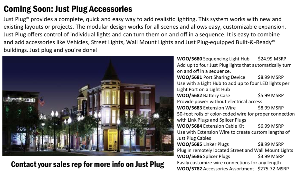 "Woodland Scenics adds Exciting & New Accessories to the ""Just Plug it"" Line"