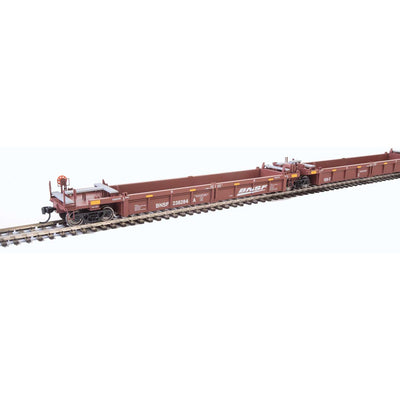 Walthers, HO Scale, 910-55623, Thrall 5-Unit Rebuilt 40' Well Cars A-E, BNSF Railway, #238284