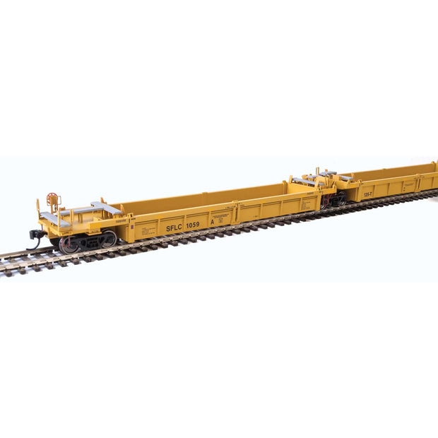 Walthers, HO Scale, 910-55639, Thrall 5-Unit Rebuilt 40' Well Cars A-E, Santa Fe Leasing (SFLC), #1059