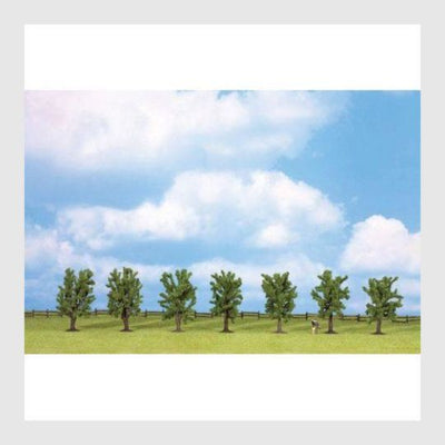 "Walthers SceneMaster 949-1161 Deciduous Trees with Flat Base, 3"" (7)"