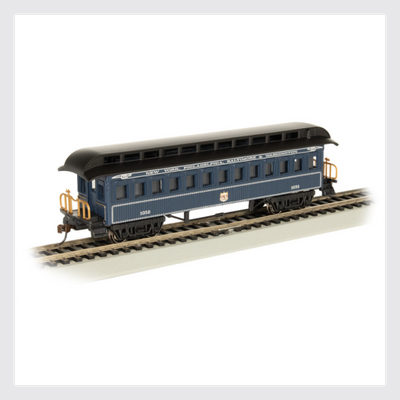 4372014563386 - Bachmann Ho 15105, 1860-1880 Era Coach, Baltimore And Ohio (Royal Blue) - Rj's Trains