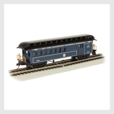 4372016398394 - Bachmann Ho 15205, 1860-1880 Era Combine, Baltimore And Ohio (Royal Blue) - Rj's Trains
