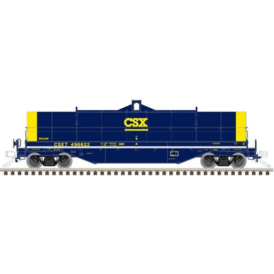 Atlas, HO Scale, 20005596, 42' Coil Steel Car, CSX, #496673