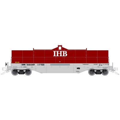 Atlas, HO Scale, 20005602, 42' Coil Steel Car, Indiana Harbor Belt Road, #166618