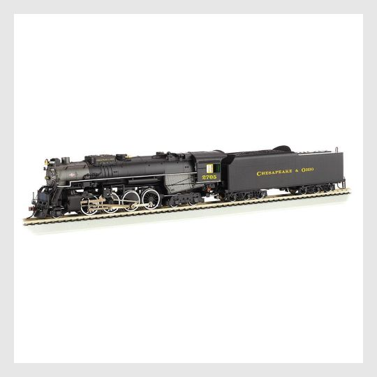 4163793584151 - Bachmann Ho 52405 2-8-4 Berkshire Steam Locomotive With Tender, C&O #1205 (Sound And Dcc Equipped) - Rj's Trains