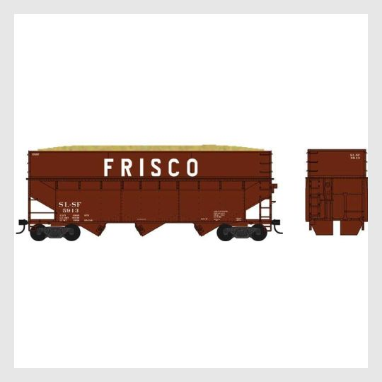 1503693373463 - Bowser Ho 60215 70-Ton Offset Wood Chip Smooth Sided Hopper Kit, St. Louis-San Francisco #5934 - Rj's Trains