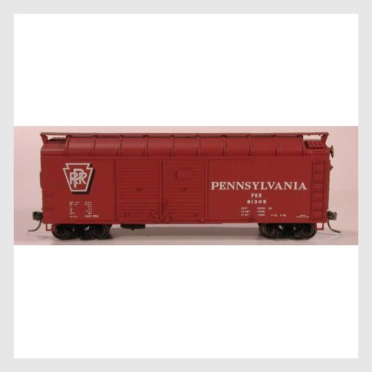 3505225170967 - Bowser Ho 60148 X-31F Turtle Roof Boxcar, Prr Shadow Keystone #81452 (Kit) - Rj's Trains