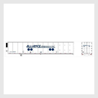 4167244775447 - Bowser Ho 42080 53' Duraplate Roadrailer Refrigerator, Alliance Shippers #553501 - Rj's Trains