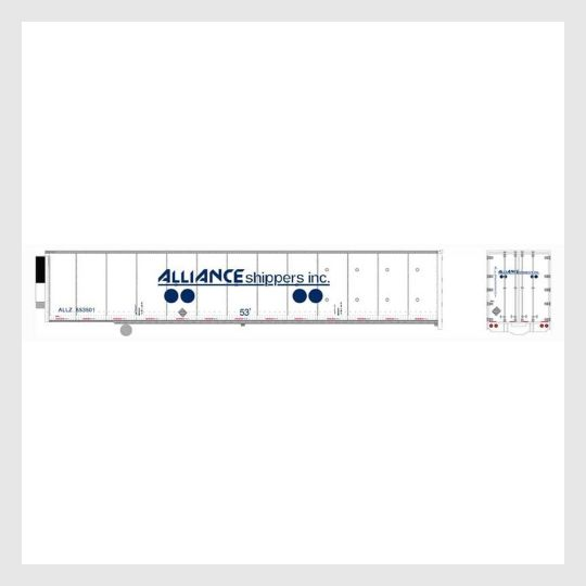 4167236911127 - Bowser Ho 42082 53' Duraplate Roadrailer Refrigerator, Alliance Shippers #553542 - Rj's Trains