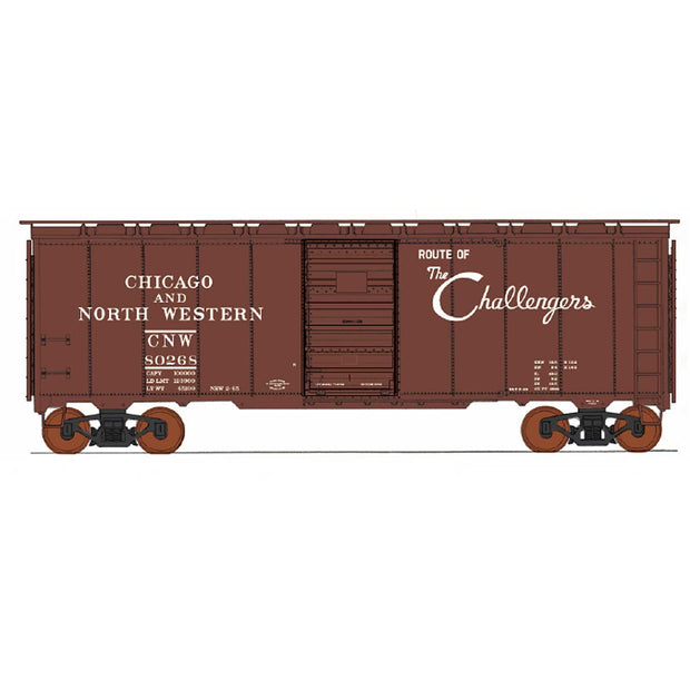 InterMountain, 45816-01, HO Scale, 1937 AAR 40' Boxcar, C&NW, #80268