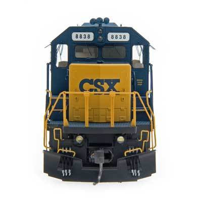 InterMountain HO 49322S-03, SD40-2 Locomotive With Sound, CSX #8838