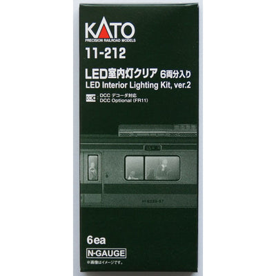 Kato, N Scale, 11212, LED Passenger Car Lighting Kit, 6 Each