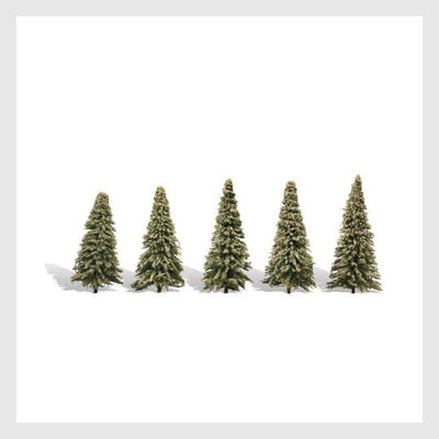 "1477807538199 - Woodland Scenics Tr3566 Blue Needle Trees, 2"" To 3-1/2"" (5) Woodland Classic Brand - Rj's Trains"